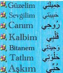 Eşinize Söyleyebileceğiniz Arapça Sevgi Sözcükleri :)