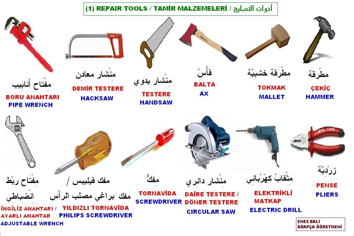 Tamir Malzemeleri أدوات التصليح