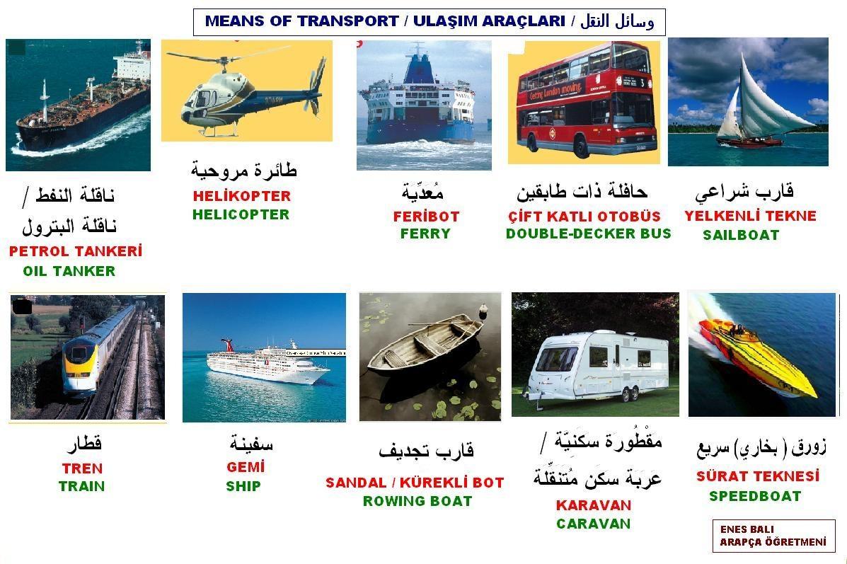 Ulaşım Araçları وسائل النقل
