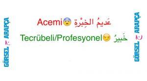 Arapça Zıt Kelimeler