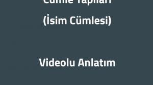 Arapçada Cümle Yapısı (İsim Cümlesi) Videolu Anlatım