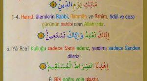 Fatiha Suresi Kelime Meali (Kelime kelime)